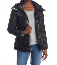 Michael Kors Black Logo Trim Puffer Jacket