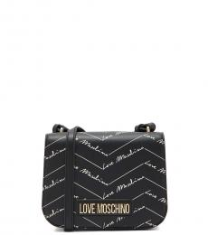 Love Moschino Black Signature Small Crossbody