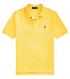 Ralph Lauren Boys Signal Yellow Mesh Polo