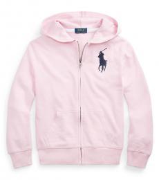 Ralph Lauren Boys Carmel Pink Big Pony Full-Zip Hoodie