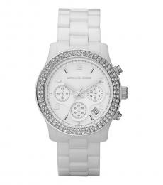 Michael Kors White Chrono Watch