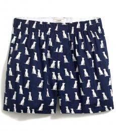 J.Crew Navy Blue Labs Woven Boxers