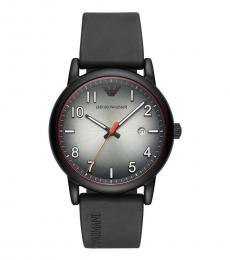 Emporio Armani Black Round Dial Watch