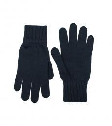 Dark Blue Wool Gloves