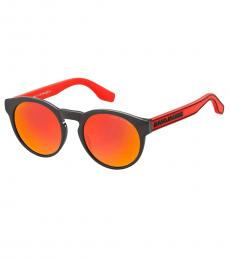 Red Mirror Round Sunglasses