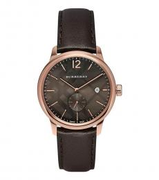 Burberry Dark Brown Classic Round Dial Watch