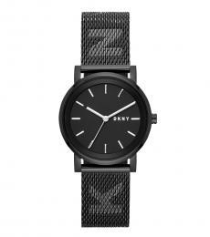 DKNY Black Mesh Logo Strap Watch