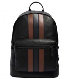 Coach Black West Large Backpack