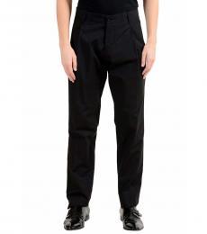 Dolce & Gabbana Grey Striped Pleated Dress Pants