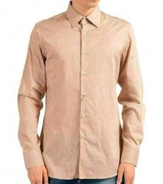 Beige Long Sleeve Dress Shirt