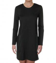 BCBGMaxazria Black Mixed Media Party Mini Dress