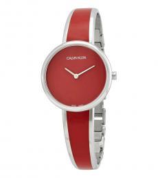 Calvin Klein Red Silver Modish Watch