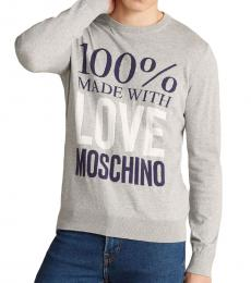 Love Moschino Medium Grey Made with Love Sweater