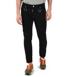 Dsquared2 Black Distressed Tidy Biker Jeans