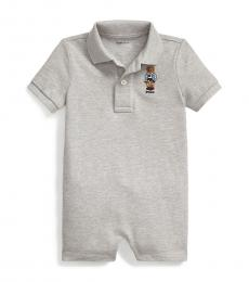 Ralph Lauren Baby Boys Grey Rugby Bear Mesh Shortall