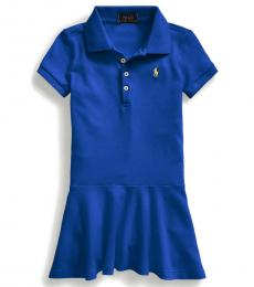 Ralph Lauren Little Girls Cruise Royal Mesh Polo Dress