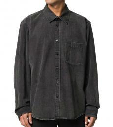 Balenciaga Black Cotton Logo Shirt