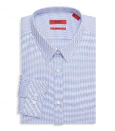 Blue Slim-Fit Dress Shirt