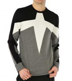 Grey Classic Patterns Sweatshirt