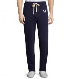 True Navy Drawstring Jogger Pants