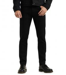 Black Slim Taper Stretch Jeans