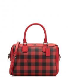 Red Bennett Small Satchel Bag