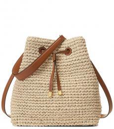 Ralph Lauren Natural Debby Large Bucket Bag