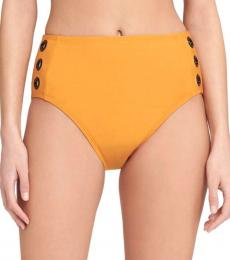 DKNY Orange High Rise Bikini Bottom