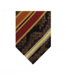 Mustard/ Red Regimental Stripe Tie