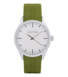 Green Solid Groovy Watch