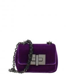 Violet Turnlock Mini Shoulder Bag