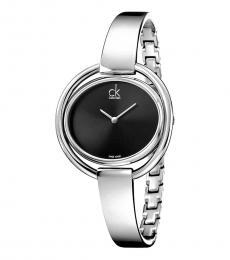 Calvin Klein Silver Impetuous Black Dial Watch