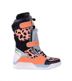 Multicolor Patchwork High Sneaker Boots