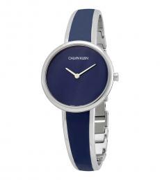 Calvin Klein Blue Silver Modish Watch