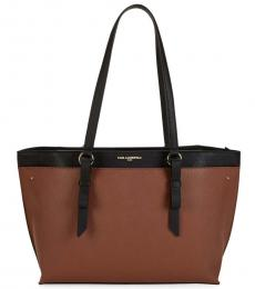 Luggage Black Two-Tone Large Tote