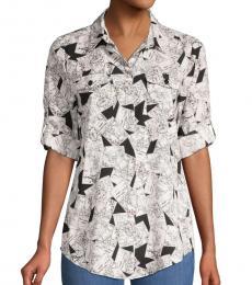 Black Postcard-Print Shirt