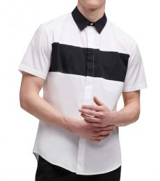 White Chest Stripe Shirt