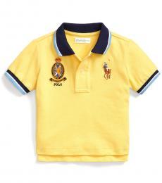 Baby Boys Oasis Yellow Big Pony Polo