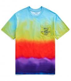 Ralph Lauren Little Boys Rainbow Graphic Pocket T-Shirt