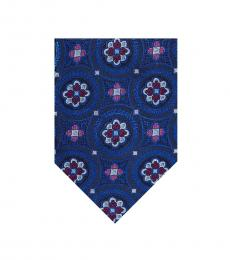 Ted Baker Navy Large Medallion Silk Tie
