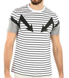 White Hidden Closure Thunderbolt Shirt