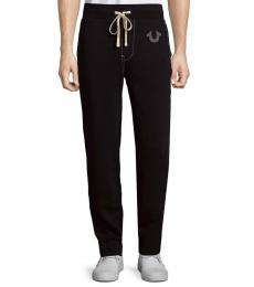 True Religion Black Drawstring Jogger Pants