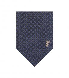 Navy Royal Printed Tie