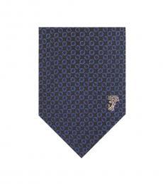 Versace Navy Royal Printed Tie