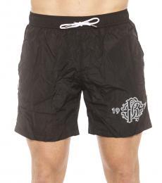 Roberto Cavalli Black Logo Swim Shorts