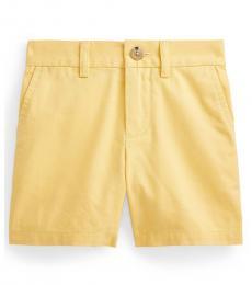 Ralph Lauren Baby Boys Empire Yellow Stretch Chino Shorts