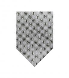 Grey Dapper Floral Silk Tie