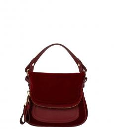 Tom Ford Red Velvet Mini Satchel