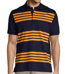 Blue Striped Cotton Polo