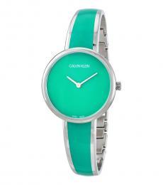 Calvin Klein Turquoise Silver Modish Watch